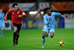 17-11-2009 VOETBAL: JONG ORANJE - JONG SPANJE: ROTTERDAM<br /> Nederland wint met 2-1 van Spanje / Georginio Wijnaldum en Javi Matinez<br /> ©2009-WWW.FOTOHOOGENDOORN.NL