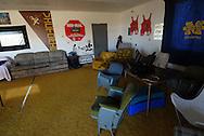 11/7/07 Smith Center, KS.Garage where the Smith Center High School football team hangs out...(Chris Machian/Prairie Pixel Group)
