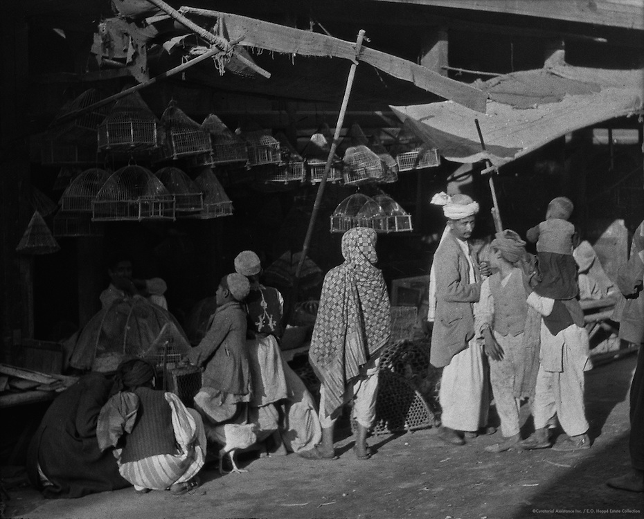 Shop Selling Bird Cages, Peshawar, India, 1929