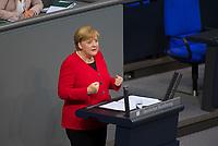 DEU, Deutschland, Germany, Berlin, 27.11.2019: Bundeskanzlerin Dr. Angela Merkel (CDU) bei einer Rede während einer Plenarsitzung im Deutschen Bundestag.