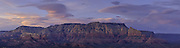 A Panorama of Wilson Mountain at sunset from the Sedona Airport.