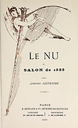 Title page from Le Nu au Salon 1888 A collection of Nude photography published in Paris in 1888 collected by Silvestre, Armand, 1837-1901 Catalogs of nudes exhibited at the official Paris Salons. Some years have two parts: The Salon held at the Champs Élysées sponsored by the Société des artistes français and the Salon held at the Champ de Mars sponsored by the Société nationale des beaux-arts
