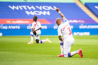 LEICESTER, ENGLAND - JULY 04: Patrick van Aanholt of Crystal Palace ahead of the Premier League match between Leicester City and Crystal Palace at The King Power Stadium on July 4, 2020 in Leicester, United Kingdom. Football Stadiums around Europe remain empty due to the Coronavirus Pandemic as Government social distancing laws prohibit fans inside venues resulting in all fixtures being played behind closed doors. (Photo by MB Media)