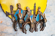 Horseshoe & hammer Christian art. Stein am Rhein, Switzerland, Europe.