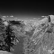 Half Dome Wide View- Glacier Point View - Yosemite - Black & White