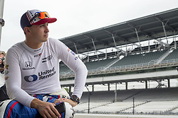 May 18, 2018 - Indianapolis, Indiana, United States of America - GRAHAM RAHAL (15) of the United States hangs out at his pit stall during ''Fast Friday'' practice for the Indianapolis 500 at the Indianapolis Motor Speedway in Indianapolis, Indiana. (Credit Image: © Chris Owens Asp Inc/ASP via ZUMA Wire)