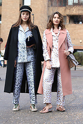 Fashionistas arrive at the Molly Goddard Autumn / Winter 2017 London Fashion Week show at Tate Britain, London on Saturday February 18, 2017