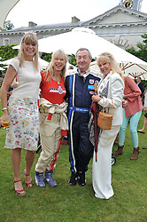 Left to right, DEBBIE LENG, NETTE MASON, NICK MASON and PATTI BOYD at a luncheon hosted by Cartier for their sponsorship of the Style et Luxe part of the Goodwood Festival of Speed at Goodwood House, West Sussex on 1st July 2012.