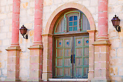 The main entrance at the Santa Barbara Mission (Queen of the missions), Santa Barbara, California