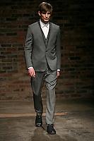 Thomas walks the runway wearing the Rag & Bone Fall 2009 Collection