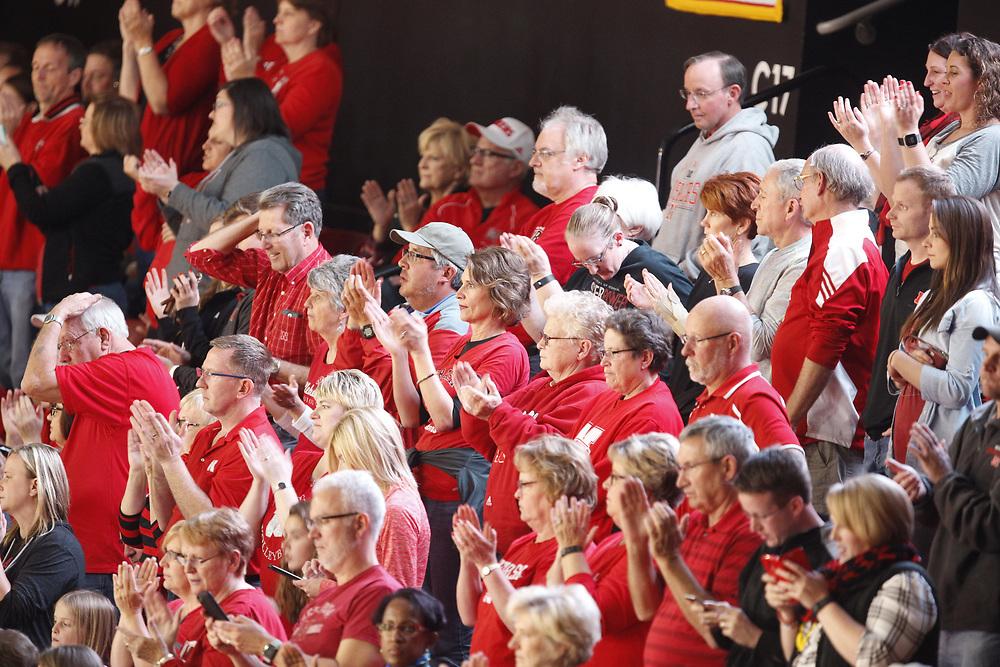 during Nebraska's 3-0 win over Penn State at the Bob Devaney Sports Center in Lincoln, Neb. on Nov. 16, 2016. Photo by Aaron Babcock, Hail Varsity