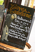chalk board caves madeleine rue fg madeleine beaune cote de beaune burgundy france