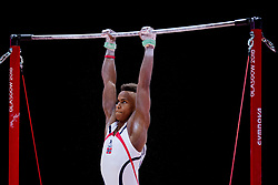 August 9, 2018 - Glasgow, UNITED KINGDOM - 180809 Sofus Heggemsnes of Norway competes at the horizontal bar in the qualification of Men's Artistic Gymnastics during the European Championships on August 9, 2018 in Glasgow..Photo: Jon Olav Nesvold / BILDBYRN / kod JE / 160290 (Credit Image: © Jon Olav Nesvold/Bildbyran via ZUMA Press)