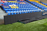 Electronic advertising boards at Plough Lane during the EFL Sky Bet League 1 match between AFC Wimbledon and Sunderland at Plough Lane, London, United Kingdom on 16 January 2021.