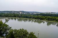 Pont d'Avignon is a famous medieval bridge in Avignon, France. River Rhone.