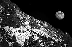 Moon Over Crestone Needles, Crestone, Colorado