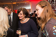 CHERIE BLAIR; KATHRYN BLAIR; , Pre -drinks at the St. Martin's Lane Hotel before a performance of the English National Ballet's Nutcracker: London Coliseum.12 December 2013