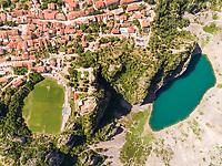 Aerial view of Modro lake, Imotski, Croatia