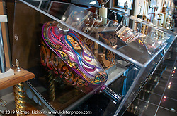 Gastank with Bev's likeness painted on it from Arlen's first Knucklehead, on display in the Arlen Ness Museum, Dublin, CA. Photograph ©2004 Michael Lichter