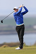 Eoin Sullivan (Carton House) on the 1st tee during Round 3 of The West of Ireland Open Championship in Co. Sligo Golf Club, Rosses Point, Sligo on Saturday 6th April 2019.<br /> Picture:  Thos Caffrey / www.golffile.ie