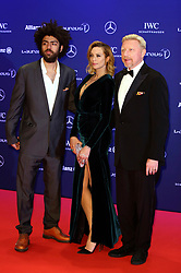 April 18, 2016 - Berlin, Berlin, Deutschland - Boris Becker, his wife Lilly Becker and his son Noah Becker attending the 17th Laureus World Sports Awards 2016 at Messe Berlin on April 18, 2016 in Berlin, Germany. (Credit Image: © Future-Image via ZUMA Press)
