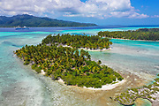 Motu Mahana, Tahaa, Society Islands, French Polynesia; South Pacific