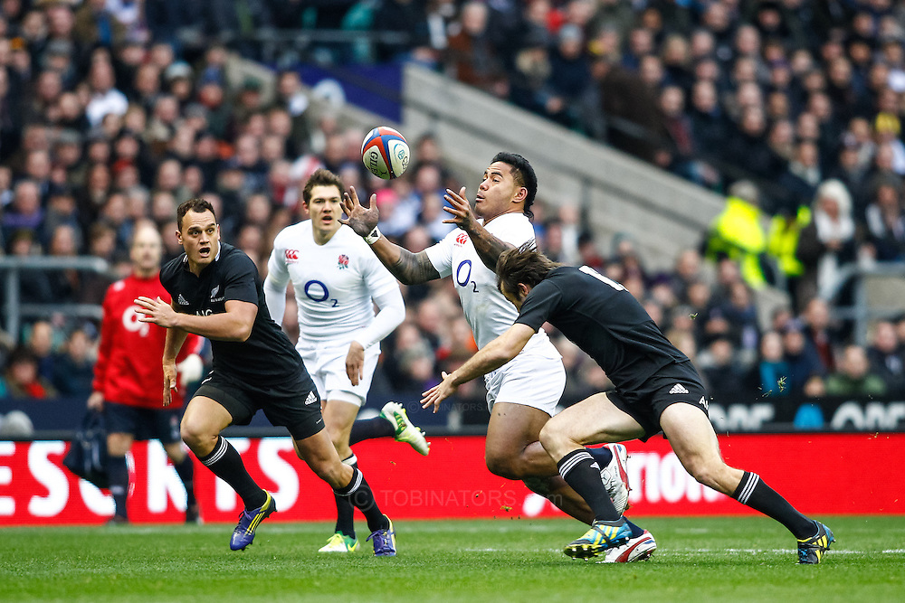 Picture by Andrew Tobin/SLIK images +44 7710 761829. 2nd December 2012. Manu Tuilagi of England in action during the QBE Internationals match between England and the New Zealand All Blacks at Twickenham Stadium, London, England. England won the game 38-21.