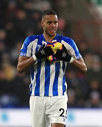 Huddersfield Town's Mathias Zanka Jorgensen during the Premier League match at the John Smith's Stadium, Huddersfield.