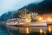 Italy, The Dolomites, Lake Garda Passenger steam ship