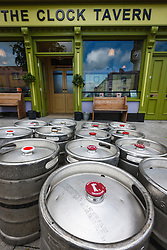 Men loading Guinness kegs intoThe Clock Tavern, Westport, County Mayo, Ireland