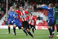 Photo: Lee Earle.<br /> Brentford v Bradford City. Coca Cola League 1. 02/09/2006. Brentford's Kevin O'Connor celebrates after scoring their first.