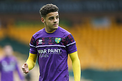 Max Aarons of Norwich City during the warmup - Mandatory by-line: Arron Gent/JMP - 24/10/2020 - FOOTBALL - Carrow Road - Norwich, England - Norwich City v Wycombe Wanderers - Sky Bet Championship