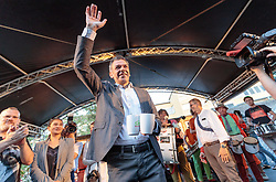 06.05.2018, Innsbruck, AUT, Bürgermeisterstichwahl Innsbruck, Wahlfeier, im Bild Georg Willi (Die Grünen) // during the mayoral stitch election in Innsbruck, Austria on 2018/05/06. EXPA Pictures © 2018, PhotoCredit: EXPA/ Johann Groder