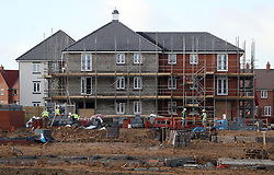 File photo dated 07/02/17 of houses under construction as activity in the UK construction industry endured a shock slowdown last month, sliding to its lowest level for nearly a year as commercial building eased.