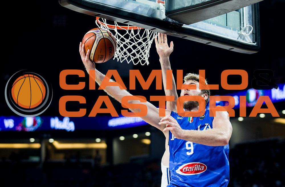Niccolo Melli<br /> Nazionale Italiana Maschile Senior<br /> Eurobasket 2017 - Final Phase - Round of 16<br /> Finlandia Italia Finland Italy<br /> FIP 2017<br /> Istanbul, 09/09/2017<br /> Foto GiulioCiamillo / Ciamillo - Castoria\