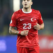 Turkey's Sercan Sararer during their FIFA World Cup 2014 qualifying soccer match Turkey betwen Romania at Sukru Saracoglu stadium in Istanbul october 12, 2012. Photo by TURKPIX