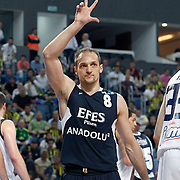 Efes Pilsen's Igor RAKOCEVIC during their Turkish Basketball Legague Play-Off semi final first match Fenerbahce between Efes Pilsen at the Sinan Erdem Arena in Istanbul Turkey on Tuesday 24 May 2011. Photo by TURKPIX
