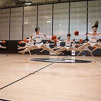 The Gallup Dance Team show off their dance routine they plan to perform in Albuquerque for the state dance tournament next week. The performance was held in the Gallup High School gym on Thursday.