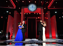 President Donald Trump and First Lady Melania Trump dance along Vice President Mike Pence and his wife Karen Pence at the Liberty Ball at the Washington Convention Center on January 20, 2017 in Washington, D.C. Trump will attend a series of balls to cap his Inauguration day. Photo by Kevin Dietsch/UPI