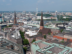 Cityscape of city of Hamburg in Germany