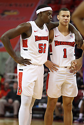 03 February 2018:  Milik Yarbrough and Elijah Clarance during a College mens basketball game between the Evansville Purple Aces and Illinois State Redbirds in Redbird Arena, Normal IL