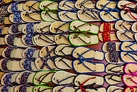 A display of flip flops (sandals) in a shop, Hoi An, Vietnam.