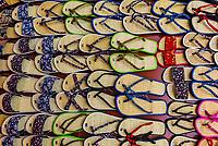 A display of flip flops (sandals) in a shop, Hoi An, Vietnam.