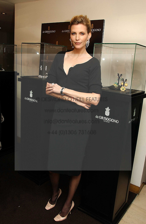 NADJA AUERMANN at a lunch hosted by Fawaz Gruosi to celebrate the launch of De Grisogono's latest watch 'Be Eight' held at Nobu, 19 Old Park Lane, London W1 on 30th November 2006.<br /><br />NON EXCLUSIVE - WORLD RIGHTS