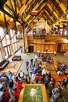 Visitors center at Paradise Park area of Mt. Rainier National Park, WA.