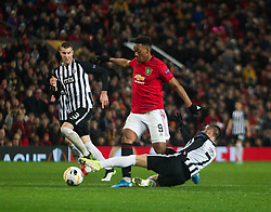 Anthony Martial of Manchester United (C) in action - Mandatory by-line: Jack Phillips/JMP - 07/11/2019 - FOOTBALL - Old Trafford - Manchester, England - Manchester United v Partizan - UEFA Europa League