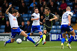 Tom Nichols of Bristol Rovers takes on Alex Bruce of Bury - Mandatory by-line: Matt McNulty/JMP - 19/08/2017 - FOOTBALL - Gigg Lane - Bury, England - Bury v Bristol Rovers - Sky Bet League One