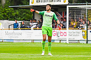 Leeds United goalkeeper A Trialist (1) in action during the Pre-Season Friendly match between Tadcaster Albion and Leeds United at i2i Stadium, Tadcaster, United Kingdom on 17 July 2019.
