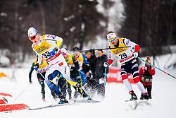 January 6, 2018 - Val Di Fiemme, ITALY - 180106 Jens Burman of Sweden and Sjur RÂ¿the of Norway compete in men's 15km mass start classic technique during Tour de Ski on January 6, 2018 in Val di Fiemme..Photo: Jon Olav Nesvold / BILDBYRN / kod JE / 160123 (Credit Image: © Jon Olav Nesvold/Bildbyran via ZUMA Wire)