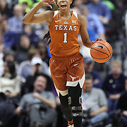 UNCASVILLE, CONNECTICUT- DECEMBER 4:  Alecia Sutton #1 of the Texas Longhorns in action during the UConn Huskies Vs Texas Longhorns, NCAA Women's Basketball game in the Jimmy V Classic on December 4th, 2016 at the Mohegan Sun Arena, Uncasville, Connecticut. (Photo by Tim Clayton/Corbis via Getty Images)